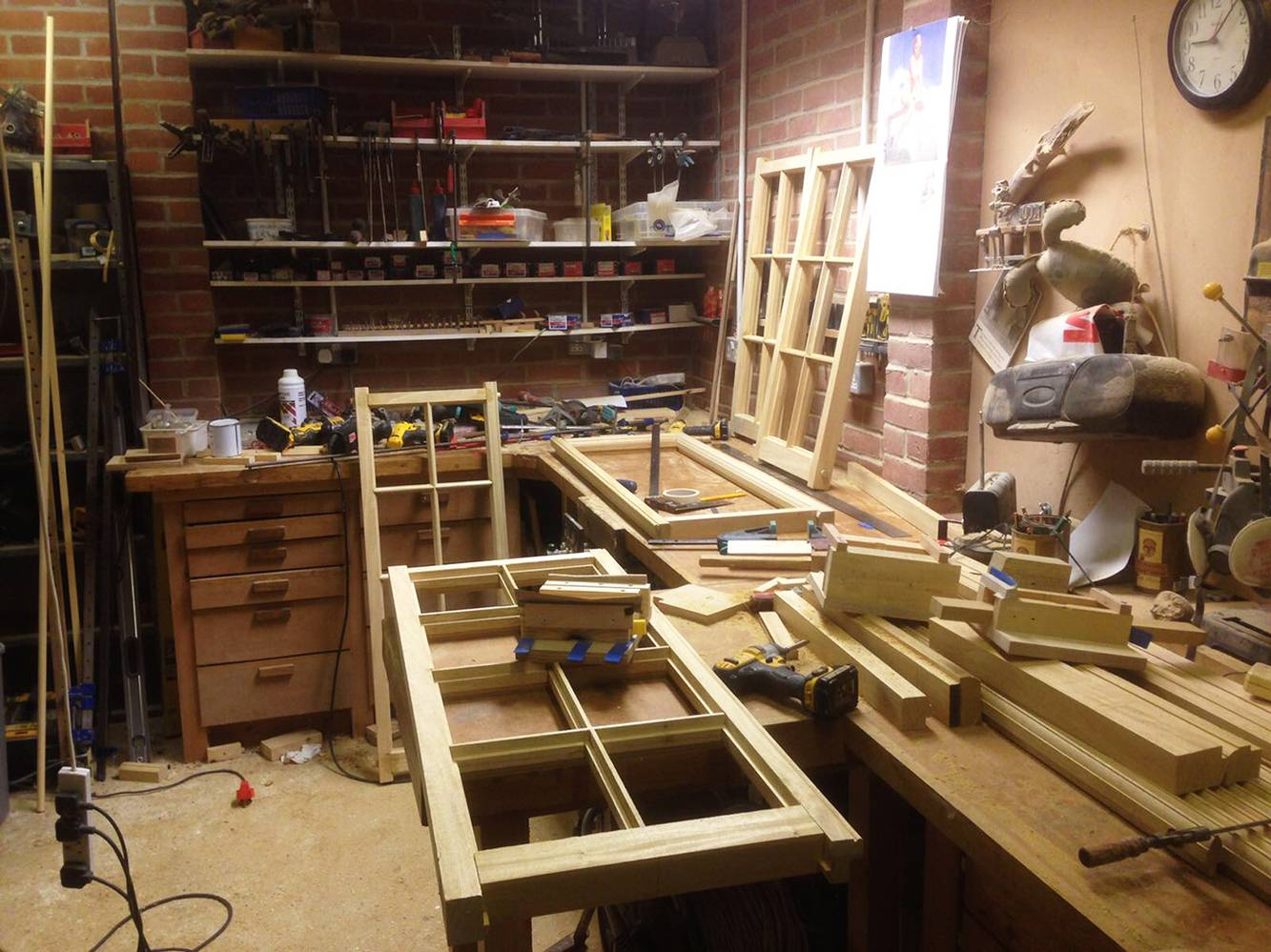 <p>The joinery has all been made in the client's workshop. </p>